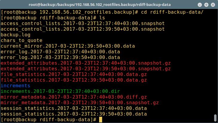 rdiff-backup – 备份过程文件